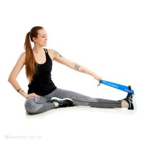 Modellfotografie Fitnessbänder