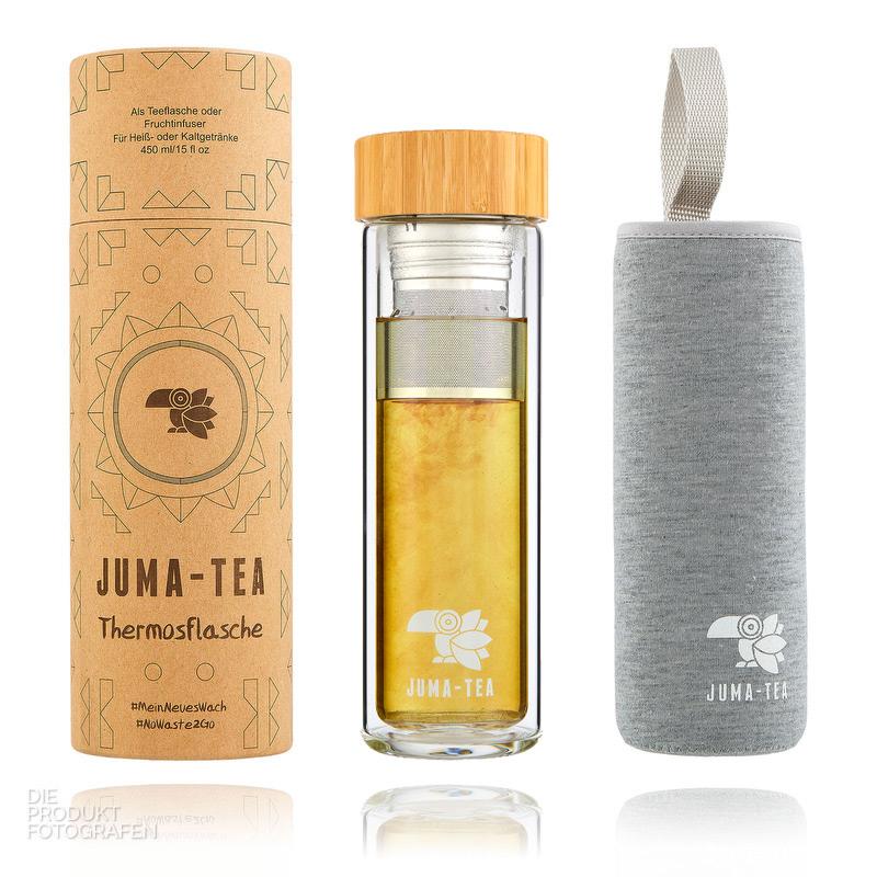 Produktfotografie Thermosflasche Tee